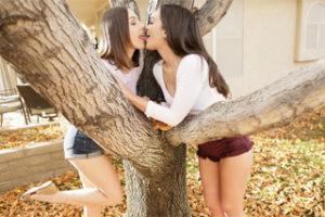 Gia Paige lesbian sex with Jenna Sativa