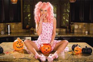 Halloween masturbation party Aaliyah Love