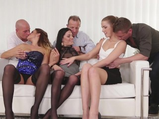 Swingers sex: Three Czech couples orgy