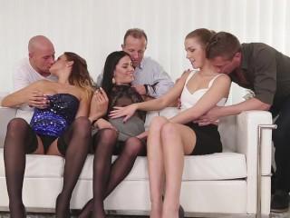 Swingers sex: Three Czech couples orgy