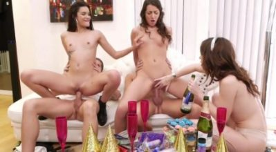 New Years Party Turns Into Slutty Fuck Orgy