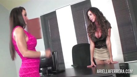 Lisa Ann secretary interview with Ariella Ferrera