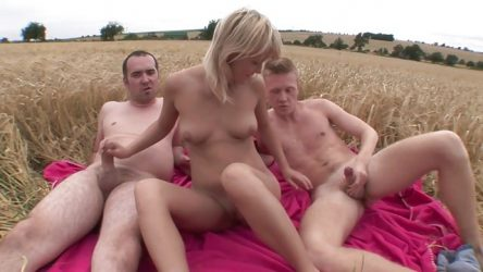 Outdoor threesome sex Czech